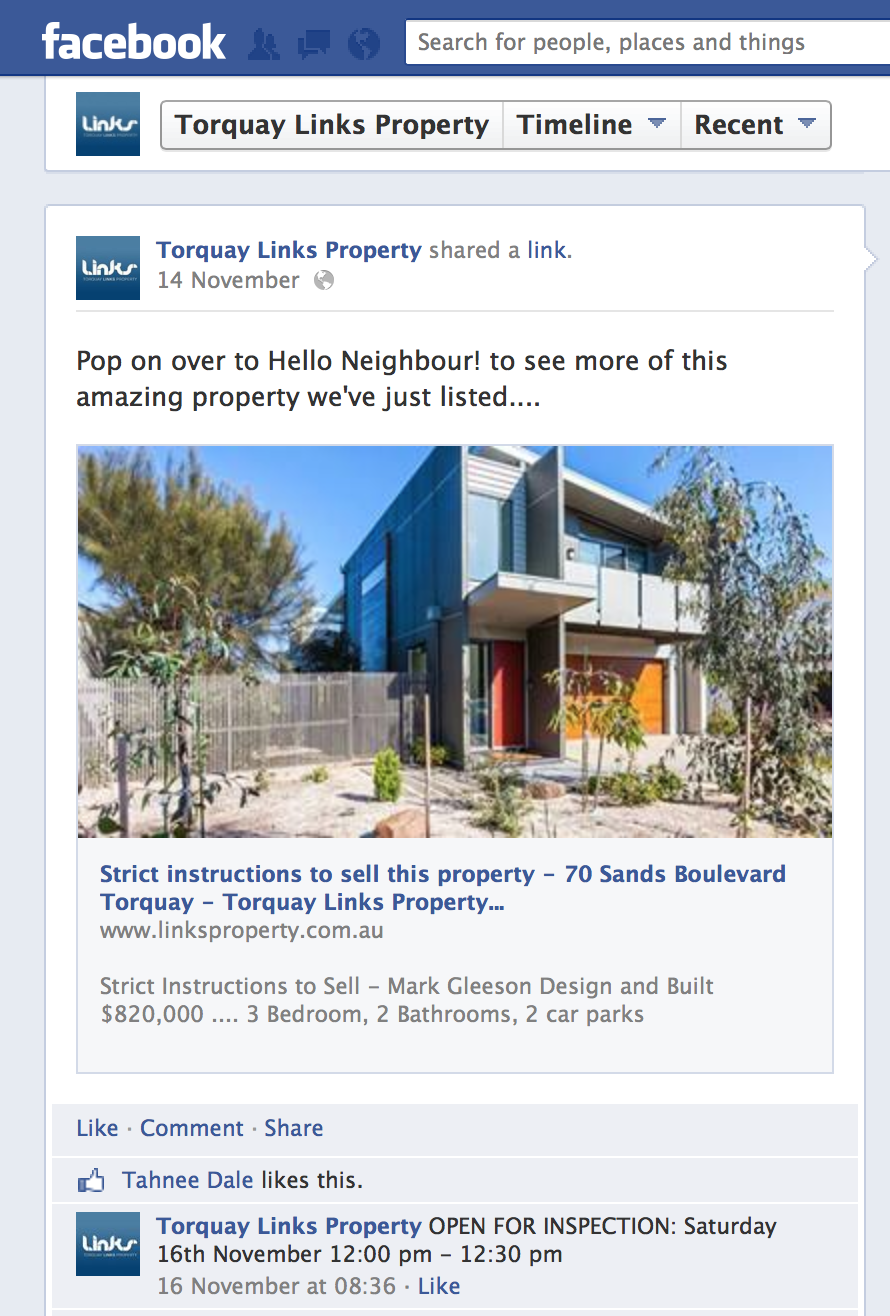 Links Property puts the E in Real Estate... we are very social in more ways than one!