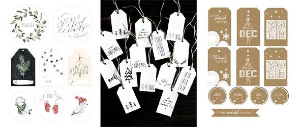 Free gift tag christmas printables Pinterest