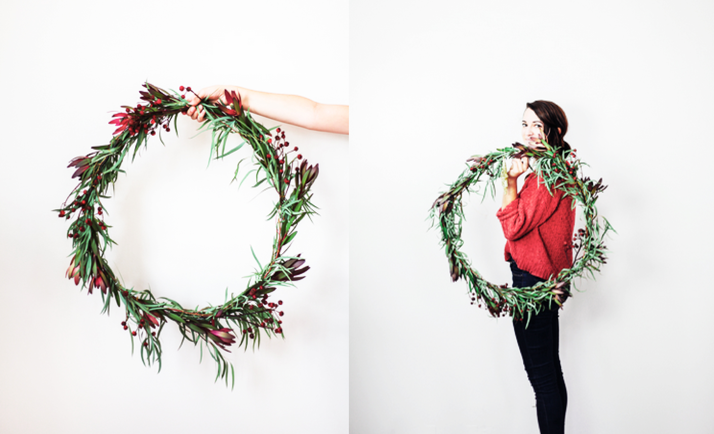christmas wreath DIY holiday decorations